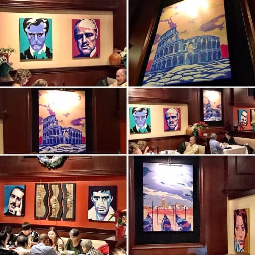 Paintings by DAI art - David Aiazzi seen at Osteria 177, Annapolis - Osteria Collection