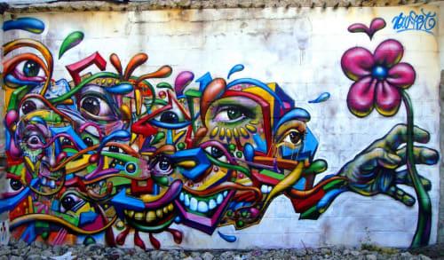 Street Murals by Arnaud Rabier Nowart seen at Saint-Ouen, Saint-Ouen - Wall Mural
