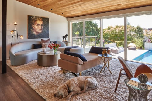 Interior Design by Garret Cord Werner Architects & Interior Designers seen at Private Residence, Seattle - Clyde Hill Mid-Century