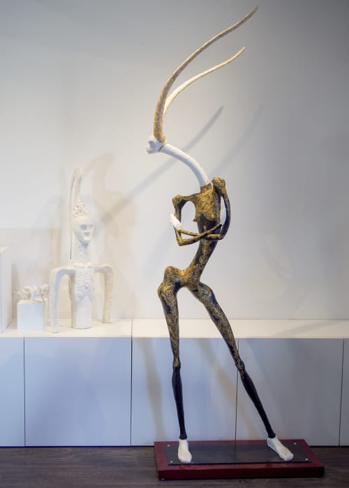 Sculptures by Anyuta Studio seen at Investment Pitch Media, Vancouver - Gazelle Girl