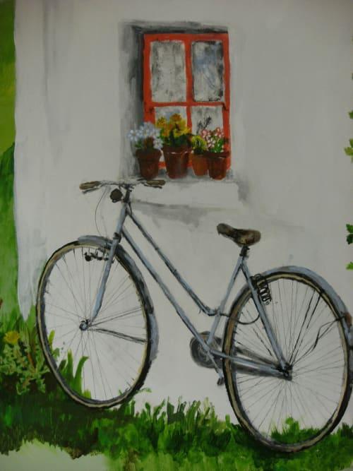 Murals by Harriet Browne seen at Esker Lodge Nursing Home, Cavan - Sensory Room composition