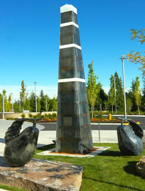 Sculptures by Walter Gordinier seen at Rogue Valley Medical Center: Cott Joshua M MD, Medford - Life in Balance