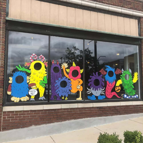 Murals by Nora Kate Paints seen at Stewart's Heating & Air Conditioning, Dixon - Window Painting