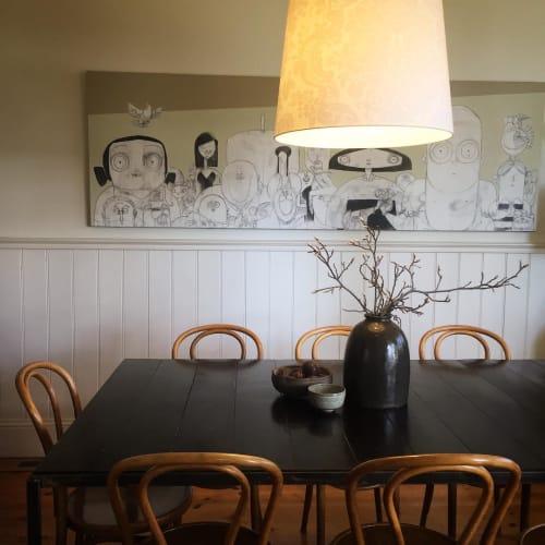 Paintings by Brett Lethbridge seen at Private Residence, Geelong - Comic Art Painting