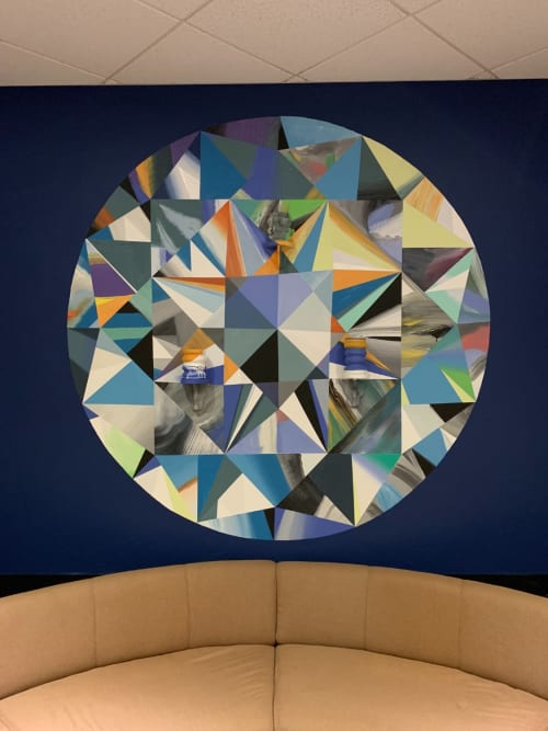 "Art & Wall Decor by Tom Franco & The Dreams seen at Simon G Jewelry, Glendale - ""Blue Diamond"" and Vessels"