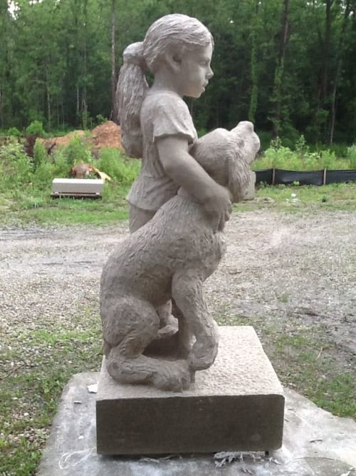 Sculptures by John Fisher Sculptures seen at Ellettsville, Ellettsville - Puppy Love