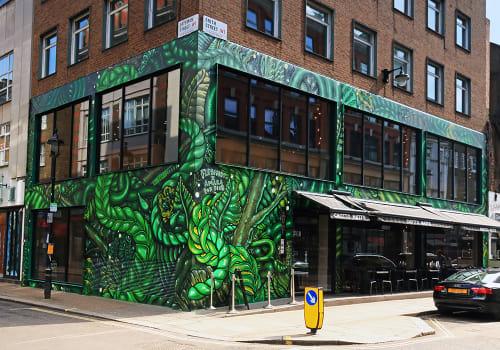 """Street Murals by Amara Por Dios at Chotto Matte London, London - """"Urban Jungle"""""""