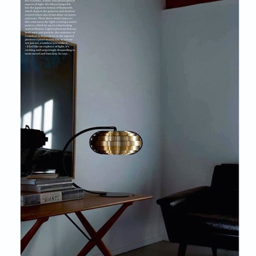 Architecture by Brian Kirk seen at Private Residence, Holte - S30 Brass table lamp