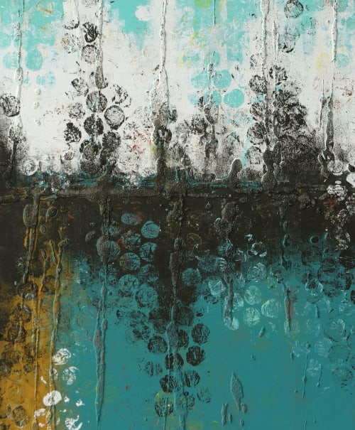Paintings by Ronald Hunter seen at Roxier Art Gallery, Rotterdam - Original Boiling Bubbles