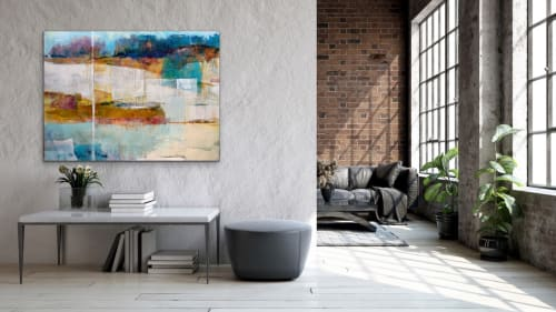 """Paintings by Pamela K Beer Contemporary Fine Art seen at Creator's Studio, Sammamish - """"A New Sensibility"""""""