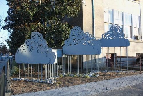 Public Sculptures by Matt Lively seen at Binford Middle School, Richmond - Matt Lively