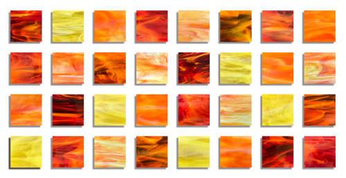 """""""Dawn"""" Glass Wall Art Sculpture   Sculptures by Karo Studios"""