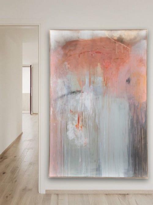 Paintings by El Lovaas seen at Creator's Studio, Carlsbad - The Echo In My Chest