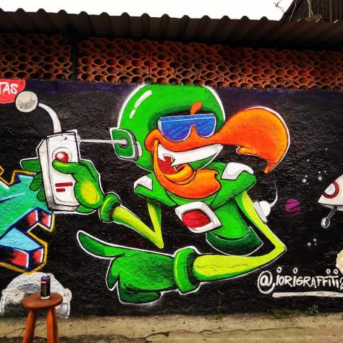 Street Murals by iori graffiti seen at São Paulo, São Paulo - Wall Mural