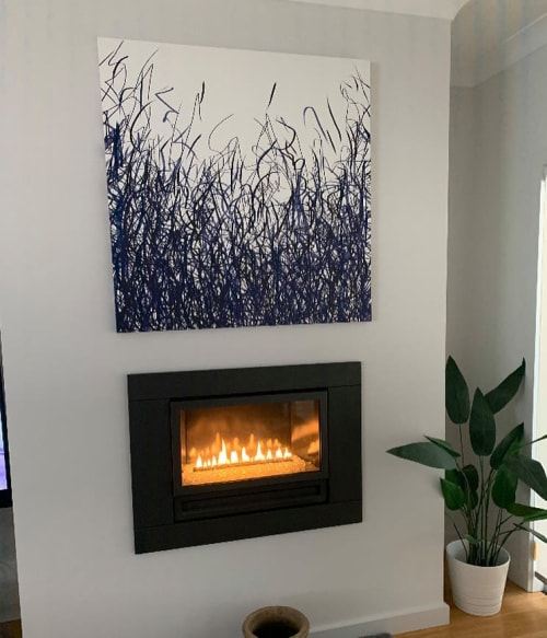 Paintings by George Hall Art seen at Private Residence, Collingwood - Freehand Rhythm