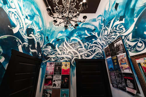 Murals by Leo Shallat seen at The Crocodile, Seattle - Indoor Mural