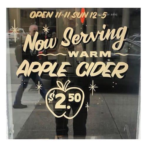 Signage by Motown Sign Co. seen at Huddle Soft Serve, Detroit - Huddle Soft Serve