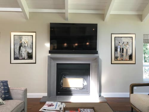 Paintings by Julie Schumer seen at Private Residence, Lafayette - Two Figure Study No. 32 and Three Figure Study No. 29