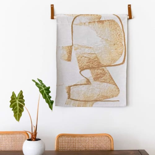 Hardware by Keyaiira | leather + fiber seen at Private Residence, Los Angeles - Medium Leather Wall Strap [Flat + Round End]