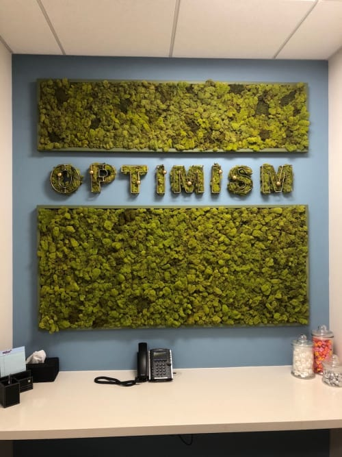 Plants & Flowers by Open Eye Art at Melvin Mark, Portland - Integrity and Optimism Acoustic Moss Walls
