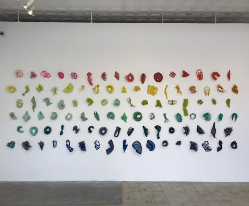 "Art Curation by Kelly Sheppard Murray Art seen at VAE Raleigh, Raleigh - ""Accumulated Color"""