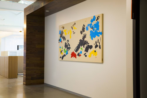 "Paintings by ANTLRE - Hannah Sitzer seen at Google RWC SEA6, Redwood City - ""Untitled"""