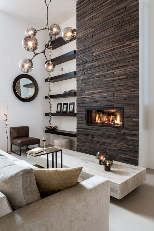 Wall Treatments by Wonderwall Studios seen at Private Residence, Rotterdam - Sage