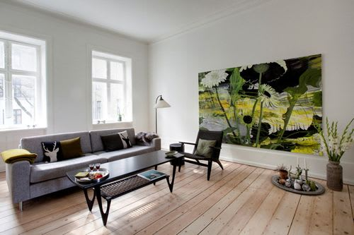 Paintings by Ulla Lundsgart seen at Private Residence, Frederiksberg - Painting
