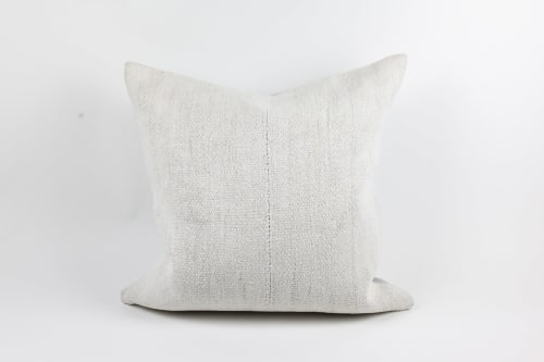 """Pillows by Wayfarer seen at Wescover Gallery at West Coast Craft SF 2019, San Francisco - 18"""" Blush Pillow and 20"""" Natural Pillow"""