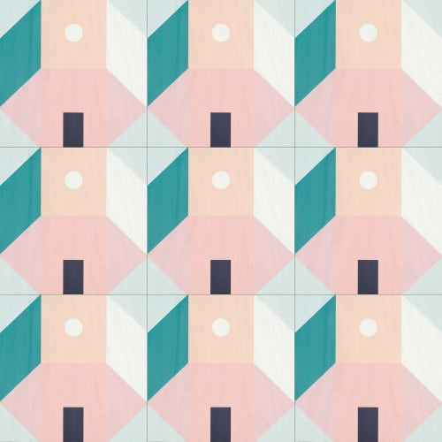 Tiles by LEMONNI seen at 3000 Rosewood Dr, Columbia - Barcelona tiles for Mirth Studio