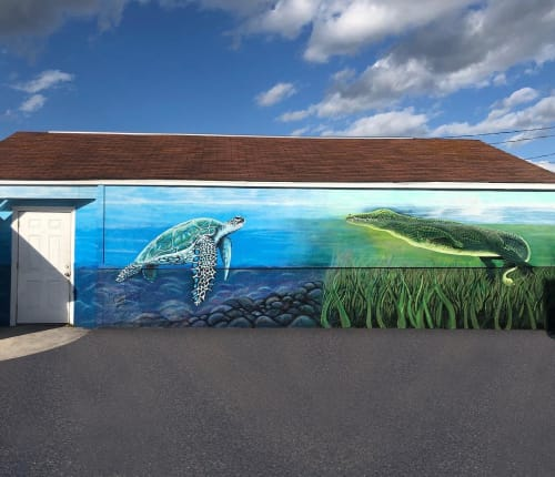 Murals by Cassondra Wyant seen at Sebring, Sebring - Florida Mural