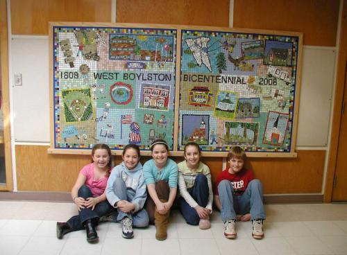 Public Mosaics by Cynthia Fisher seen at Major Edwards Elementary, West Boylston - Mosaic