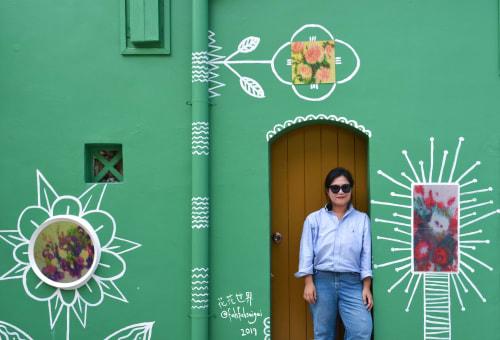 Murals by 「 花 花 世 界 」Fah Fah Sai Gai seen at 61 Muscat St, Singapore - Strange Plants
