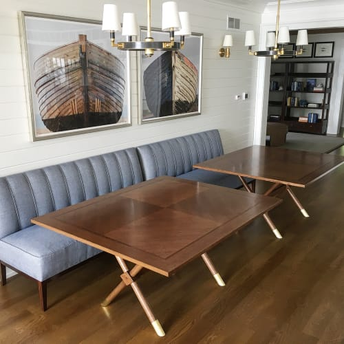 Tables by Rohan Ward at Private Residence, Lake Geneva - Custom Oak Tables