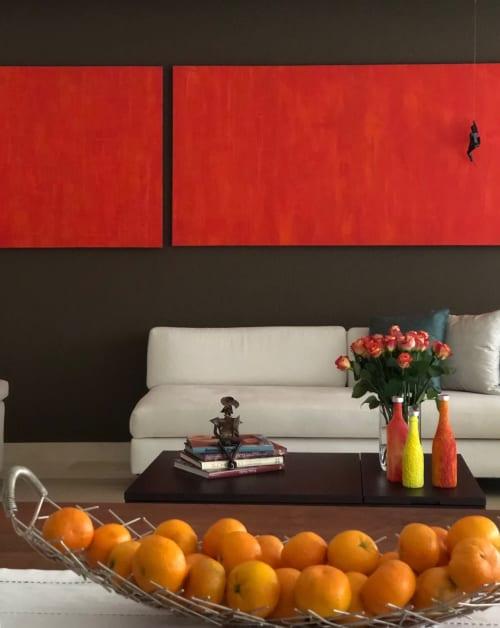 Paintings by sorayart - sorayacaballero seen at Private Residence, Mexico City - Orange