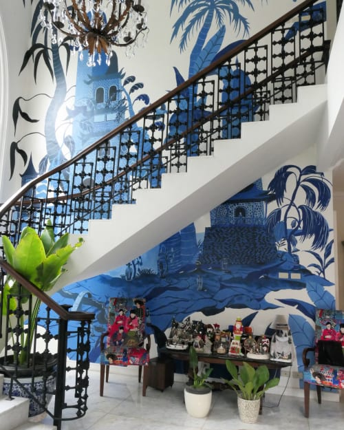 Murals by Galih Sakti seen at Private Residence - Chinoiserie Mural