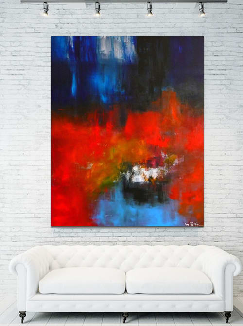 Paintings by CHRISTIAN BAHR seen at Private Residence, Washington - A WAR TO END ALL WARS (triptych)