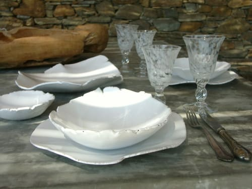 Ceramic Plates by Julie Tzanni Ceramics seen at Private Residence - Padme ceramic plates