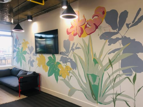 Tropical botanical mural large scale | Murals by Living Wall Murals | Huddle in London