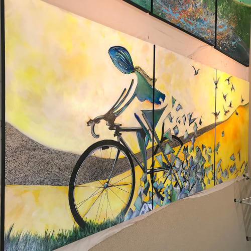 Paintings by Nancy Hilliard Joyce seen at Greenville-Spartanburg International Airport, Greer - Nancy Joyce