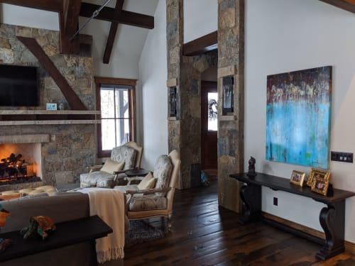 Paintings by David V. Gonzales seen at Private Residence, Vail - Horse Tribe