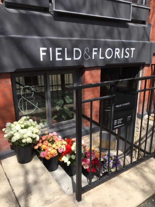 Signage by Finer Signs seen at Field & Florist, Chicago - Field & Florist Signage