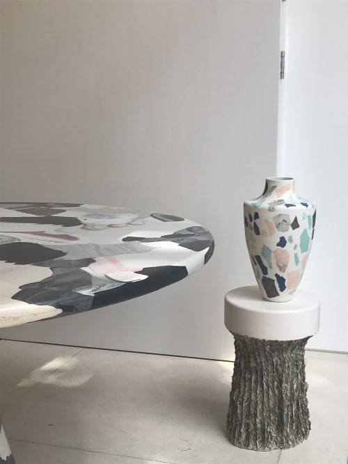 Vases & Vessels by Natascha Madeiski seen at Mint, London - Marbled Terrazzo Vase