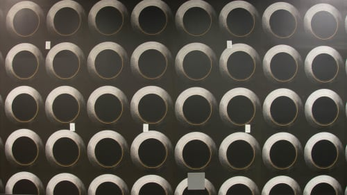 Wallpaper by Candice Kaye Design seen at Dolphin Bingo, Toronto - Custom Large Circles Wallpaper