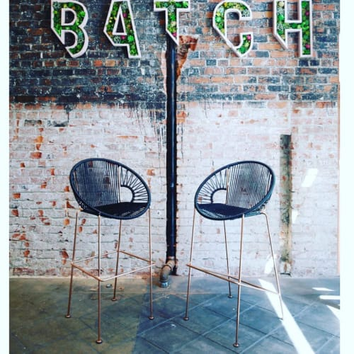 Chairs by Innit Designs seen at Batch, San Francisco - Puerto Stool - Bar Height