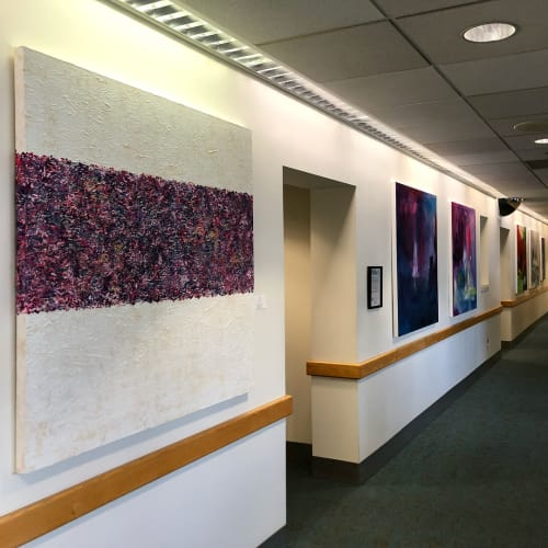 Paintings by Ariel Gold seen at UCSF Women's Health Center, San Francisco - UCSF Women's Health Center Collection