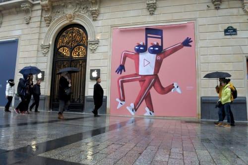 Murals by Amaël Isnard seen at Apple Champs-Élysées, Paris - Apple Store Imaginary Characters