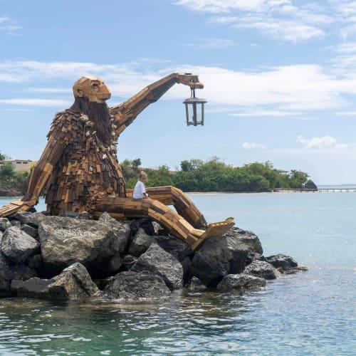Public Sculptures by Thomas Dambo seen at Culebra, Culebra - The Return of Hector El Protector