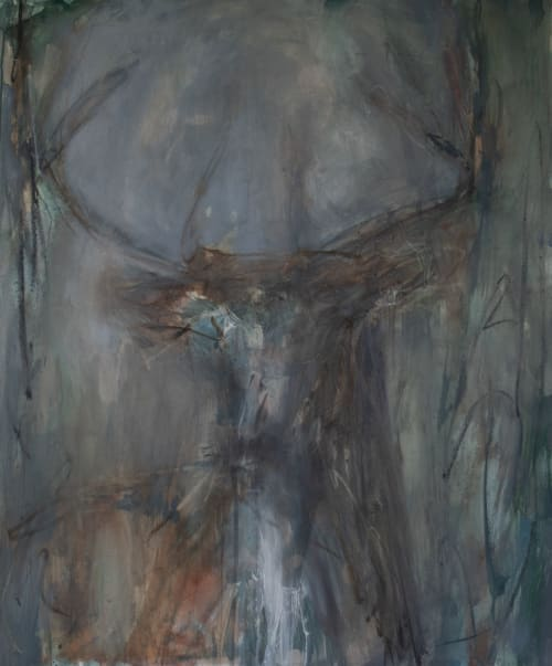 Nocturnal Buck II | Paintings by Jessica Whitley Studio