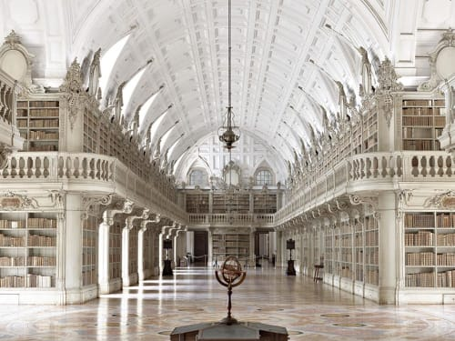 Photography by Massimo Listri at Private Residence - Biblioteca di Mafra I, Portugal